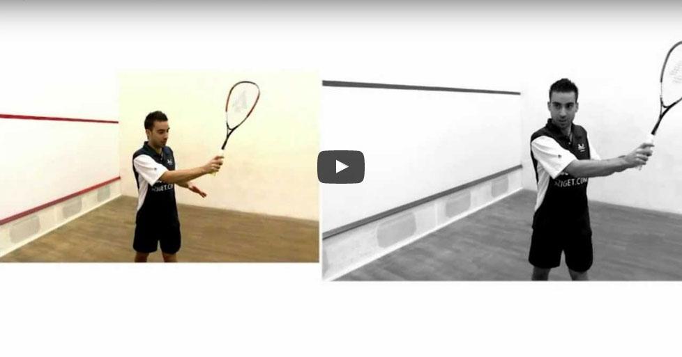 Fonák ütéstechnika Squash Veszprém Fenyves Sport Club